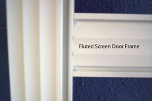 Fluted Screen Door Frame